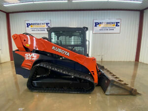 2016 Kubota Svl 95 2s Cab Skid Steer Track Loader With Ac heat