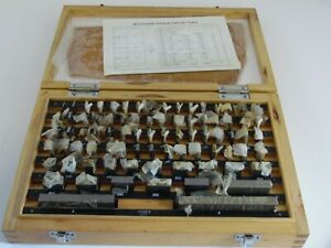 050 4 Gauge Blocks Set W Table Complete 81 Pc Set In Wood Box B Grade