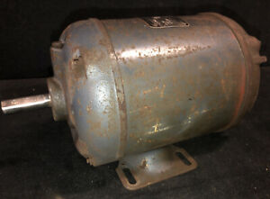 Gray Mill Electric Motor 1 2 Hp 1725 Rpm 3 Phase 208 220 440v 58 Shaft