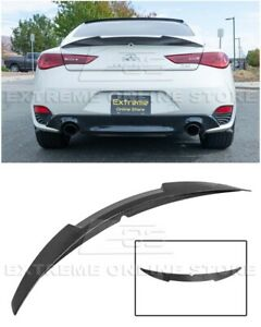 For 17 Up Infiniti Q60 M4 Style High Kick Carbon Fiber Rear Trunk Wing Spoiler