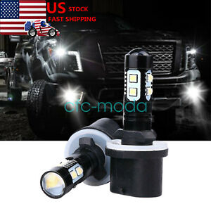 880 899 Led Fog Light Bulbs Driving Lamp White For Nissan Titan 2004 2015 2pcs