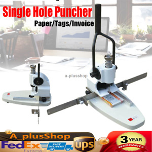 Single Hole Puncher File Drill Machine B3 Paper tags invoice Punching Metal