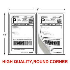 200 1000 Shipping Labels 8 5 X 5 5 Half Sheet Blank Self Adhesive Round Corner