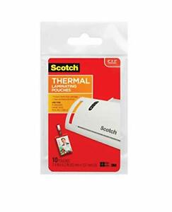 Scotch Thermal Laminating Pouches Id Badge With Clip 2 4 Inches X 4 2 Inches