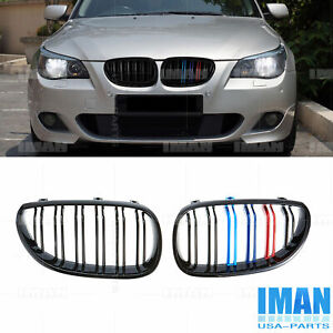 3 Color Dual Slat Grill Front Kidney Grille For Bmw E60 525xi 545i M5 4d 2004 09