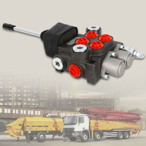 Hydraulic Directional Control Valve 2 Spool Double Acting Single Cylinder 11gpm