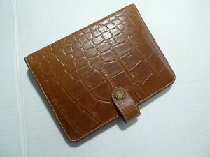 Mulberry Leather Planner organizer A6 Size faux Croc Pattern