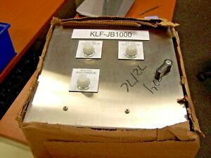 New Stainless Steel Electrical Enclosure 16 x16 x11 W Backplate Csd161610ss