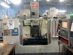 Haas Vf 2 Vertical Machining Center 2004 Side Mount 24 Atc Auger