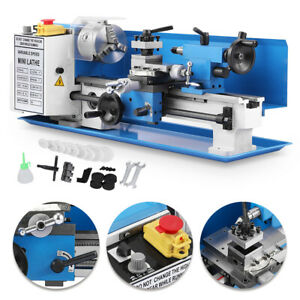 Blue 7 x14 Turning Metal Milling Cj18a Mini Digital Lathe Accessory Package