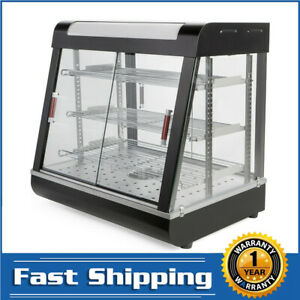 Commercial 27 Glass Food Warmer Court Heat Food Pizza Display Warmer Cabinet Us