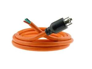 30 Amp 15 Ft Nema L14 30 4 Wire 10awg Generator Power Cord Hard Wire Whip
