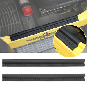 Black Soft Rubber Door Sill Protector For 1997 2006 Jeep Wrangler Tj Entry Guard