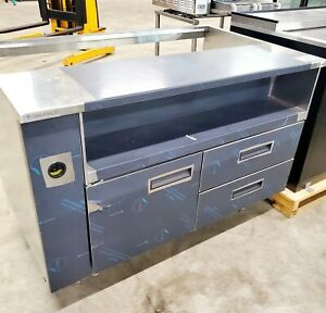 New Delfield Food Salad Prep Remote Refrigerated Cooler Stainless Table