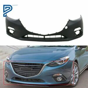 New Front Bumper Cover Replacement For 2014 2015 2016 Mazda 3 Sport Primed