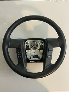 2011 2014 Ford F150 Black Leather Steering Wheel W Cruise Sync Oem Bl3z3600ea