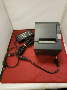 Epson Pos Micros Printer Tm t88iv Model M129h Power Cord And Usb Cable Included