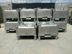 Stainless Steel Ibc Tote With Internal Mixer 125 Gallon
