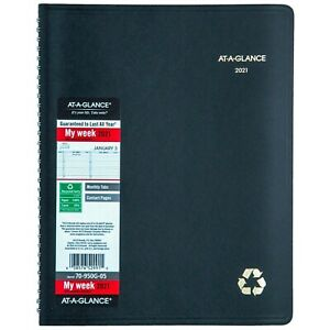 2021 At a glance 70 950g 05 Weekly Monthly Appointment Book 8 1 4 X 11 New
