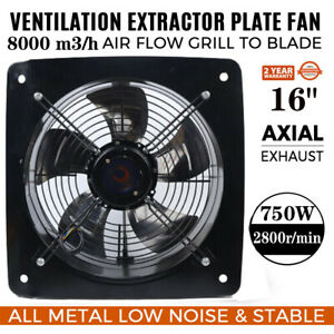 16 Ventilation Extractor Exhaust Fan Blower Wall Mounted Kitche Bath 750w