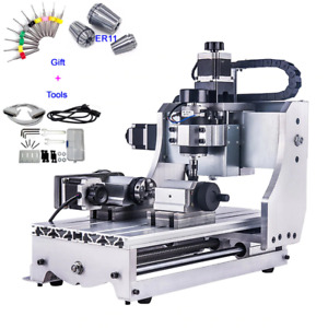 4 Axis Cnc Router 3020 T d300 Mini Milling Engraver Machine Free Dhl Shipping