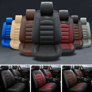 Universal Car Suv 5 seat Pu Leather Seat Covers Front rear For Accord Civic Crv