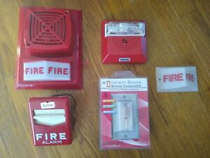 Lot Of Rare Fire Alarms Edwards Space Age Standard Simplex Viking