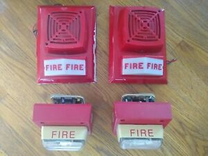 Lot Of 4 Rare Fire Alarms Edwards 895b 301 And 792 7a 006