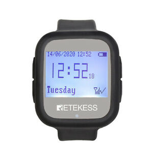 Td106 Restaurant Wireless Calling System Watch Receiver For Cafe Fast Food Bar