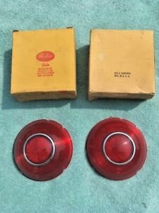 1953 54 Pontiac Chieftain Special Deluxe Nors Tail Light Lamp Lens Pair 5942453