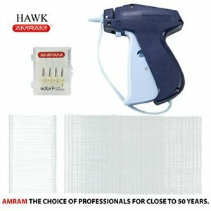 Amram Hawk Tagging Gun For Clothing With 1250 Pieces Of 2 Inch Attachments And 5