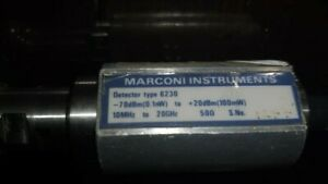 Marconi Instruments Detector Type 6230 For Ifr Aeroflex Marconi Microwave Scalar