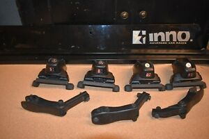 Inno 50 Square Bar Roof Rack With Locking Fixed Base Stay Towers 40 Fairing