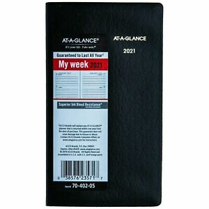 2021 At a glance 70 402 05 Deluxe Pocket Weekly Planner 3 1 2 X 6 1 8 New