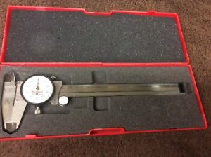 Starrett No 120a Dial Caliper 0 To 6 Hardened Stainless Steel Usa W Case