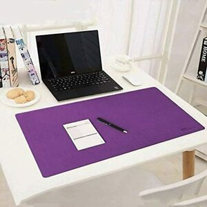 Desk Blotter Purple Mouse Pad zxtrby Mat For Office Home Protector Waterproof