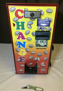 American Changer Ac 401 Change Machine 1 And 5 Bill Red