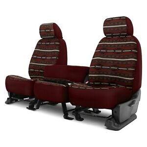 For Chevy Silverado 2500 18 Southwest Sierra 1st Row Maroon Custom Seat Covers