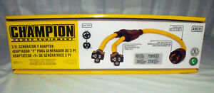 Champion 3ft Weather resistant Generator Cord 48035 l14 30p To 2 5 20r