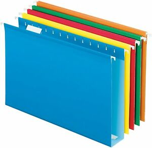 Pendaflex Extra Capacity Reinforced Hanging Folders 2 Legal Size Assorted