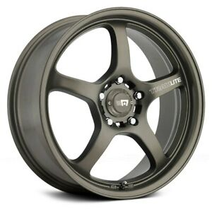 Motegi Racing Mr131 Traklite Wheels 17x7 45 5x100 72 6 Bronze Rims Set Of 4