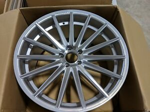 Vossen Vfs2 21x10 5 45mm Silver Set Of 4 Wheels 5x114 3 5x4 5