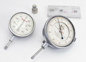 Pair Of Starrett Dial Indicators Mod 25 c 655 fi Micrometer Gauges 0001 001