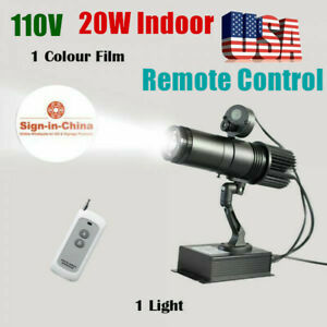 110v 20w Indoor Remote Control Led Gobo Projector Advertising Logo Light 1 Color