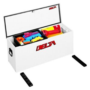 Standard Single Lid Portable Utility Chest Tool Box W Mounting Base Plates