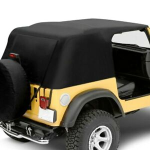 For Jeep Wrangler 1992 1995 Pavement Ends Black Emergency Soft Top