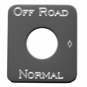 Rockwood Stainless Steel Off Road Normal Switch Id Plate 4ske701orn
