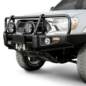 For Toyota Tacoma 05 11 Bumper Deluxe Full Width Black Powder Coat Front Winch