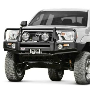 For Toyota Tacoma 12 15 Bumper Deluxe Full Width Black Powder Coat Front Winch