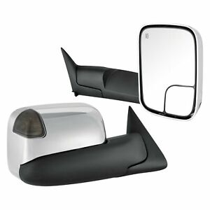 For Dodge Ram 2500 94 02 Towing Mirrors Driver Passenger Side Power Towing